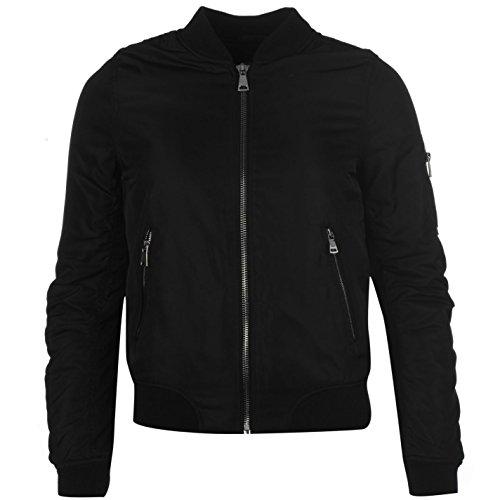 Golddigga MA1Bomber chaqueta para mujer negro chaqueta abrigos Outerwear