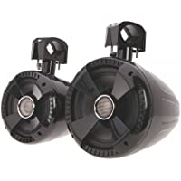 Soundstream WTS-8B 8 Wake Tower Speakers, Gloss Black, 2-Pair