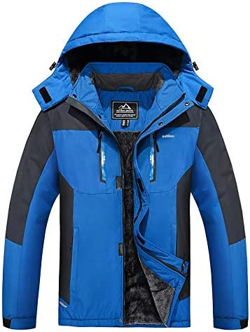 MAGCOMSEN Men's Winter Coats Water Resistant Ski Snow Jacket Warm Thicken Fleece Lined Jacket Parka with 5 Pockets