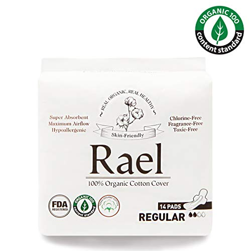- Rael Certified Organic Cotton Panty Liners, Regular - 4Pack/80 total - Unscented Pantiliners - Natural Daily Pantyliners (4 Pack)