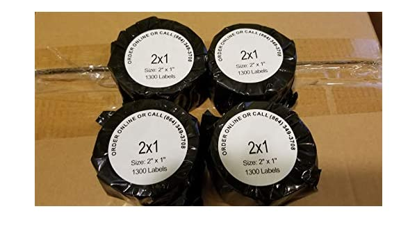 1 Roll 2x1 Direct Thermal Labels 1300 for Zebra LP2824 LP2422 LP2844 TLP 2844Z