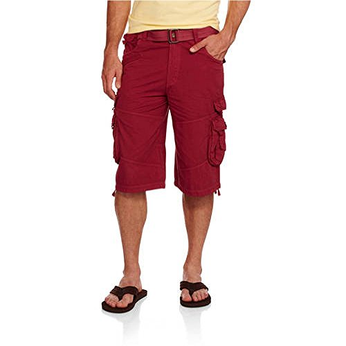 swiss-cross-mens-belted-jetleg-stacked-long-cargo-shorts-36-red