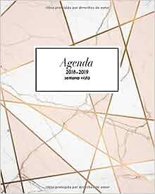 Agenda semana vista 2018-2019: Organizador y planificador ...