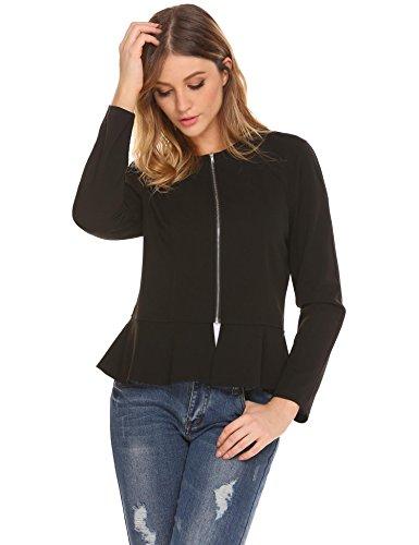 Zeagoo Women's Casual Office Blazer Zipper Work - Office Jacket