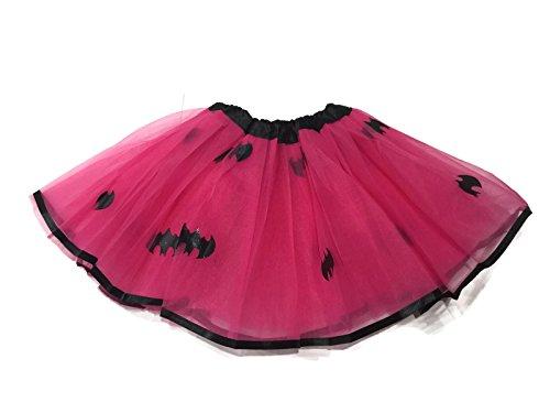 [Rush Dance Superhero Halloween Girls DressUp Princess Fairy Costume Recital Tutu (Batgirl)] (Girls Batgirl Costumes)