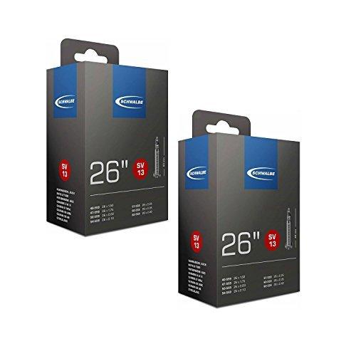 Schwalbe SV13 MTB Inner Tubes 26 x 1.50-2.40, Presta 40mm Valve (2 Pack)