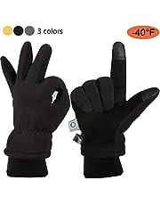 CCBETTER Winterhandschuh, Warme Arbeitshandschuhe für Herren und Damen, Thermische Polarfleece-Handschuhe zum Skifahren, Radfahren
