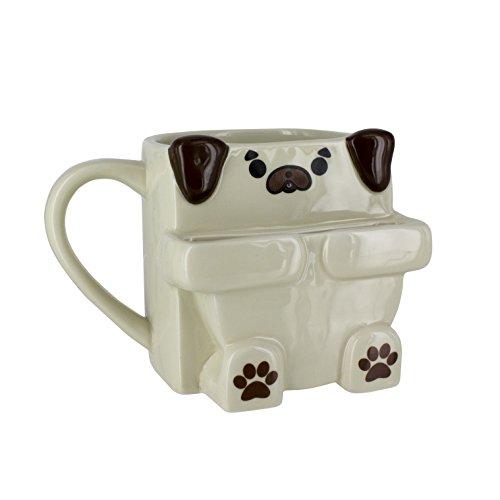 - Pug Hug Coffee Mug with Cookie Holder - 10oz - Paladone