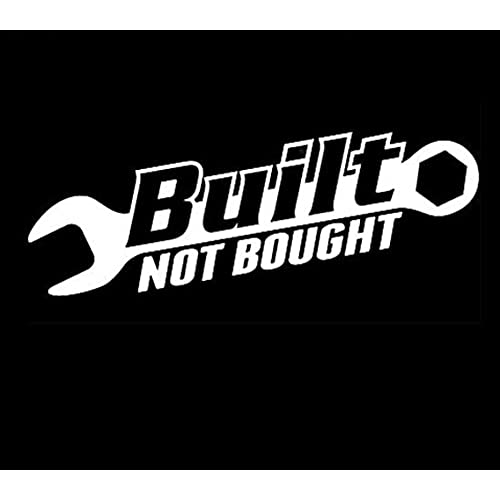 1 piece white built not bought hellaflush import tuner vinyl decal jdm stickers