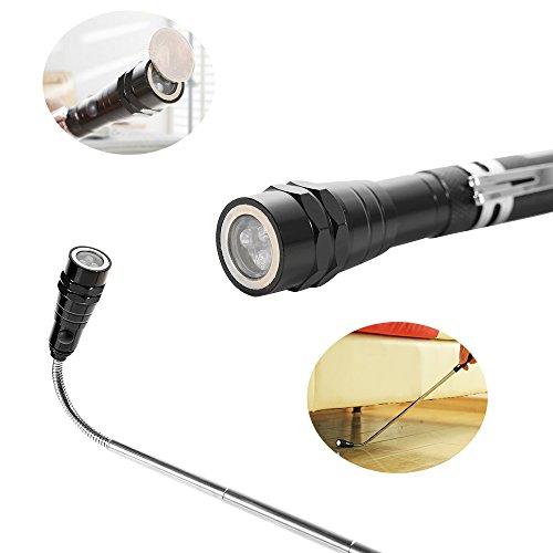 Lampe Up 3 Torche Magnétique Flexible Télescopique Pick Homgaty Led erBWxdCo