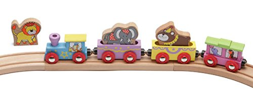 Review Wooden Animal Train Circus