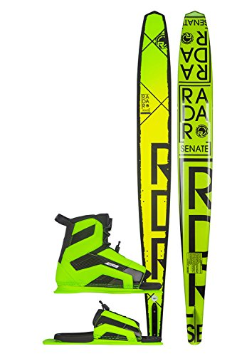 Radar Alloy Senate Waterskis w/ Verde Vector/ARTP Bindings Sz 67in/(7-11)