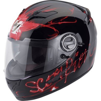 Scorpion EXO-500 Ardent Red Full Face Helmet Size Extra Small