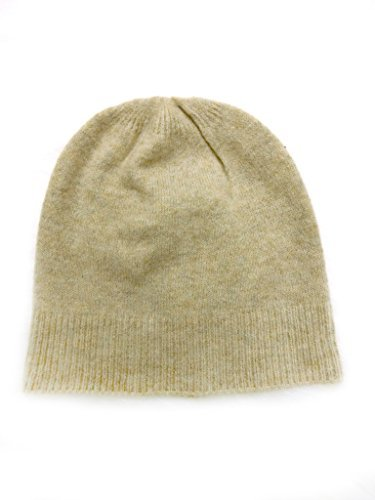 Meesty Knitted Warm and Soft Wool Mix Skull Cap Beanie Hat for Men and Women (Oatmeal)
