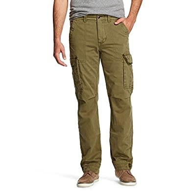 Nice Olde School Men's Twill Cargo Pants (Size: 32, Army) for sale