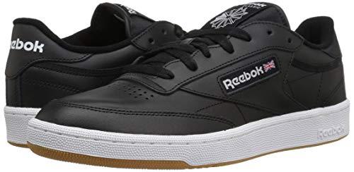 Reebok Men's Club C 85 Walking Shoe, black/white gum, 5.5 M US