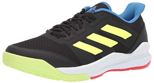 adidas Men's Stabil Bounce, Black/Yellow/True Blue 9.5 M US