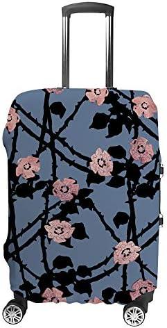 スーツケースカバー ブライヤー 花柄 伸縮素材 キャリーバッグ お荷物カバ 保護 傷や汚れから守る ジッパー 水洗える 旅行 出張 S/M/L/XLサイズ