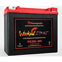 RG20L-WS Wicked Start 500+ CCA Battery; Harley 1993 Dyna...