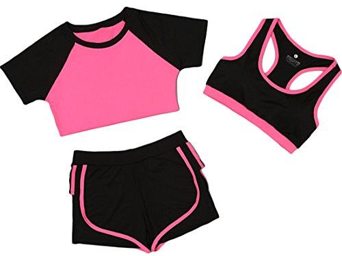 Price comparison product image ainr Women's Yoga Gym Workout Room 3-piece Set 13 S