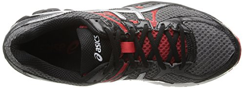 Asics Heren Gel-flux 2 Hardloopschoen Koolstof / Lightning / Red