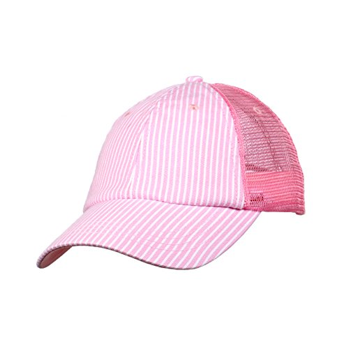 cap911 Unisex Pinstripe Denim Trucker Hat (Denim Pinstripe Cap)