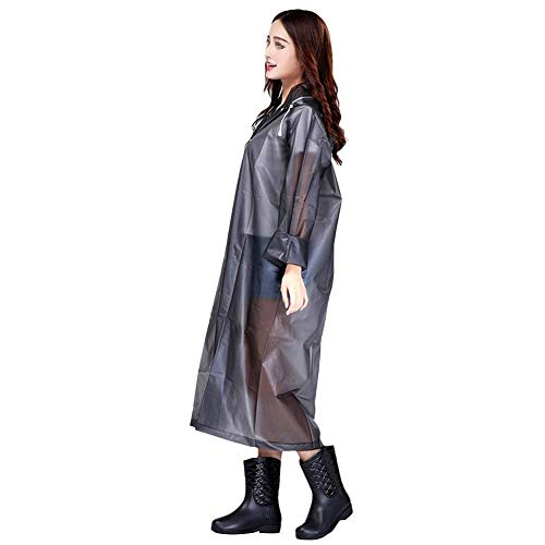 Unisex White Capucha Reutilizable Casual Jacket Y Eva Con Butterme Translucent Rain Lady Impermeable Poncho OR0zndwq4