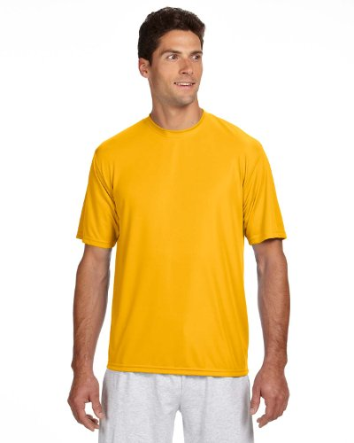 - A4 Adult Cooling Performance T-Shirt, Gold, Medium