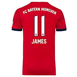 Bayern Munich Home James 11 Shirt 2018 2019 (Official Printing) - L