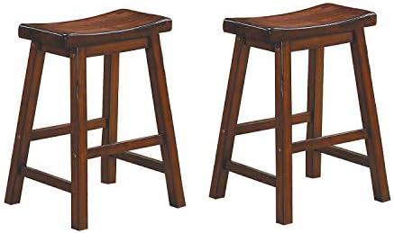Homelegance Saddleback 24-Inch Height Barstool