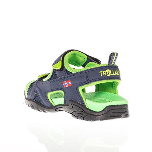 Trollkids Sandalias Orrestrand para niños azul marino / verde víbora