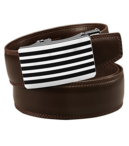 [해외]용 홀리스 레더 래칫 벨트 클릭 - 완벽한 착용감 (다양한 스타일과 색상)/Men`s Holeless Leather Ratchet Click Belt - Trim to Perfect Fit (Various Styles and Colors)