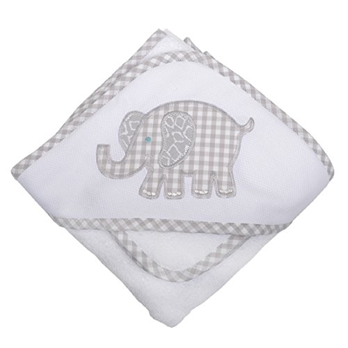 3 Marthas Boutique Hooded Towel and Washcloth (Gray Elephant)