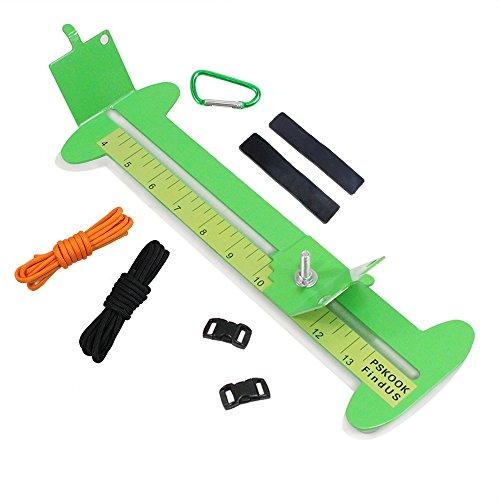 PSKOOK Paracord Bracelet Jig Kit Adjustable length Metal Weaving DIY Craft Maker Tool 4