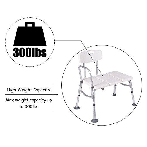 Giantex Shower Bath Seat Medical Adjustable Bathroom Bath Tub Transfer Bench Stool Chair by Giantex (Image #6)