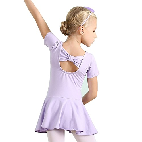- Ballerina Outfit Dress Clothes for Girls Ballet Dancing Skirts Wear Dresses Cotton with Tutu Dress Prime Child Dancewear Ballet Tights Gymnastics 5T 6T Leotard US-L (Purple,130)