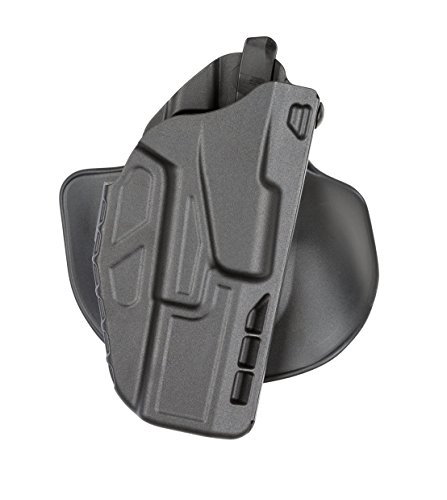 Safariland 7378 7TS ALS Open Top Concealment Holster, Flex-Paddle & Adjustable Belt Loop, Plain Black, Right Hand, S&W M&P 9L 5