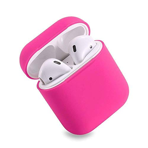 HappyCover Compatible for Airpods Case 2 & 1, Protective Silicone Cover Skin for Airpods Charging Case (Rosy)