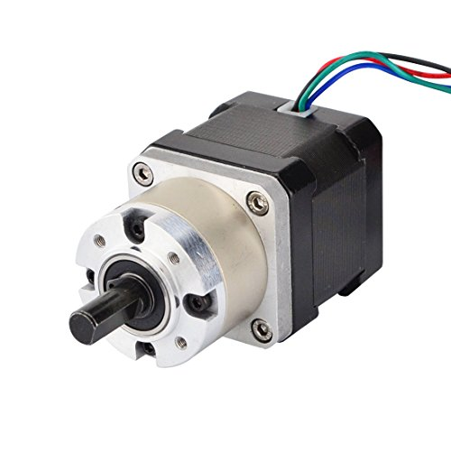 STEPPERONLINE 5:1 Planetary Gearbox Nema 17 Stepper Motor 1.68A for DIY CNC Robot 3D Printer