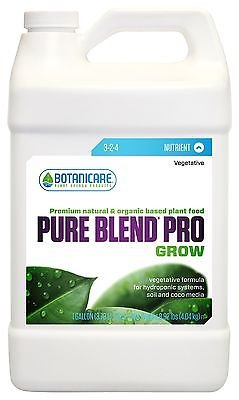 Botanicare Pure Blend PRO Grow Soil Nutrient 3-2-4 Formula, 1-Gallon