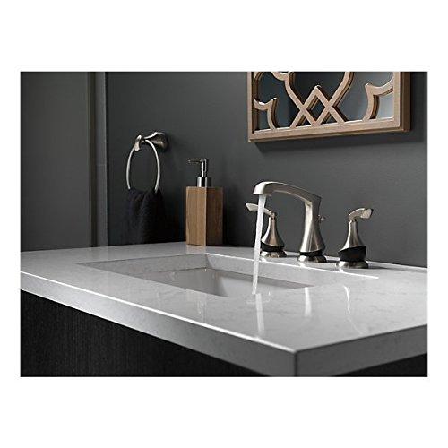 Delta Merge 8 Inch Widespread 2-Handle Bathroom Faucet in SpotShield Brushed Nickel/Matte Black 30%OFF
