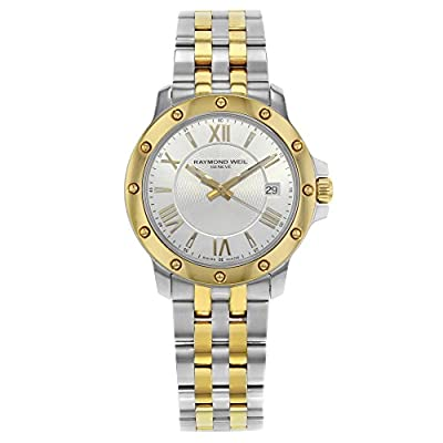 Raymond Weil Tango 39mm Two Tone Silver Dial Steel Quartz Mens Watch 5599-STP-00657 (Certified Pre-Owned) by Raymond Weil