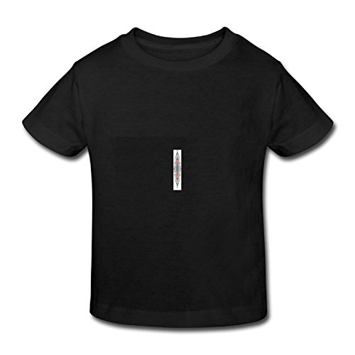 Dec.Anngela Kid's T-Shirt Mexican Native American Ethnic Symmetrical Four Corner Art Pattern for Girls & Boys