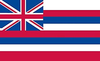 product image for Valley Forge, Hawaii State Flag, Nylon, 3'x5', 100% Made in USA, Canvas Header, Heavy-Duty Brass Grommets
