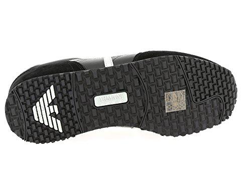 Armani Jeans Nero 7A419-00020 Herren Halbschuhe (Black)