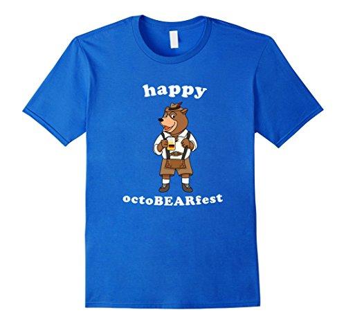 Mens Octoberfest Beer Octobearfest Funny Festival Gift Tshirt XL Royal ()