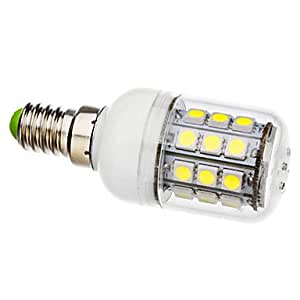 E14 3.5W 30x5050SMD 300-330LM 6000-6500K Natural White Light with Cover LED Corn Bulb (AC 110-130/AC 220-240 V) --- VOLTAGE:110V