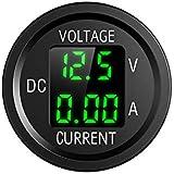 YGL 6V/48V Pantalla de Corriente y Voltaje de DC Voltímetro Amperímetro, con Pantalla Digital LED, Adecuado para…