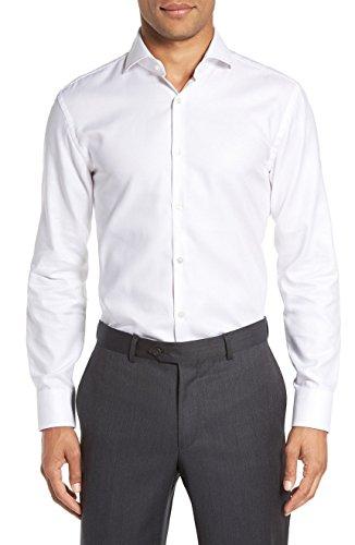 Hugo Boss Men's Mark Sharp Fit Dress Shirt (White, 16.5 x 34/35)