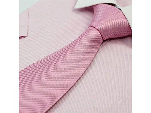 Color Pink Fashionable Formal Occasion for Solid Necktie Fashion Kxrzu Wedding Men's qwTZxFTvI